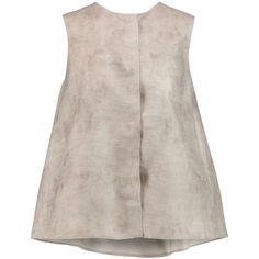 Giambattista Valli Woven silk top (€1.245) ❤ liked on Polyvore featuring tops, shirts, blouses, tank tops, mushroom, pink silk shirt, snap shirt, loose tops, cut loose shirt and silk top