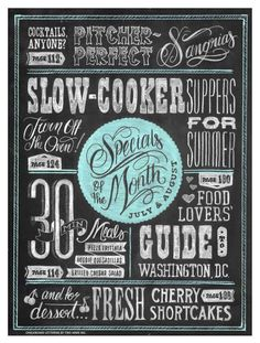 Awesome Chalkboard Typography Arts   Graphic & Web Design Inspiration + Resources
