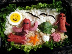 Sea life bento box - ironically there is no seafood in it :-)