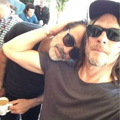 Pin for Later: 26 Times Norman Reedus Proved He Was Surprisingly Adorable When He Shared This Cuddle With Jeffrey Dean Morgan