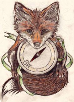 fox tattoo | Tumblr on We Heart It