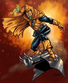 Hobgoblin - color by ZethKeeper on DeviantArt Marvel Villains, Marvel Comics Art, Marvel Heroes, Marvel Characters, Anime Comics, Comic Book Heroes, Comic Books Art, Comic Art, Spider Man