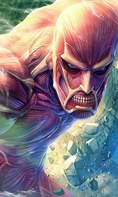 Titan Colosal - Attack On Titan - Shingeki No Kyojin - Anime In, Manga Anime, Pokemon, Sailor Moon, Attack On Titan Fanart, Dragon Ball, Fan Art, Armin, Anime Comics