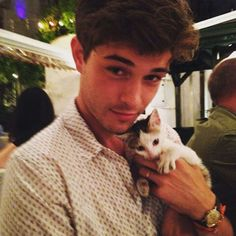 cat, boy, and Francisco Lachowski image