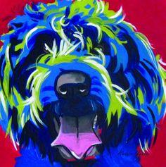 Wire Haired Griffon Pop Art Pet Portrait - 12x12 Giclee $35.  www.KarrenMGarces.com