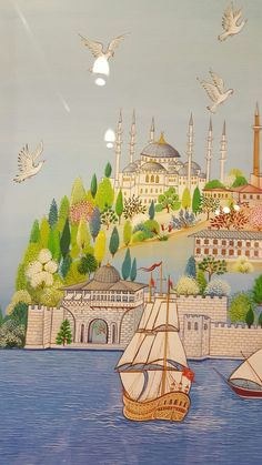 The post Sultan Ahmet Camii appeared first on Ottoman Pictures. Turkish Design, Turkish Art, Sea Drawing, Nurse Art, Buch Design, Anime Drawings Sketches, Arabic Art, Hindu Art, Medieval Art