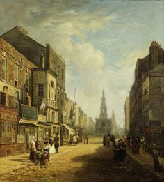 The Strand, Looking Eastwards from Exeter Change, London by Stanley, Caleb Robert, 1824. Museum of London.