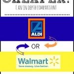 Aldi vs. Walmart - which one is really less expensive than the other one?