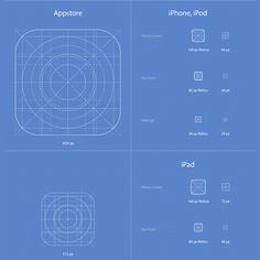 Full iOS 7 App Icons Template Set Ai/PSD - http://www.dawnbrushes.com/full-ios-7-app-icons-template-set-aipsd-2/