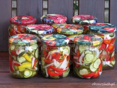 Fresh Rolls, Preserves, Mason Jars, Food And Drink, Stuffed Peppers, Canning, Vegetables, Healthy, Ethnic Recipes