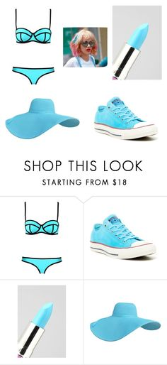 """swimming"" by lilshorty1110 ❤ liked on Polyvore featuring beauty, Converse, Lime Crime and Capelli New York"