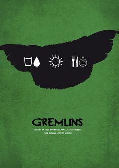 Gremlins - minimalist movie poster
