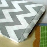 Medium Thick GRAY Chevron Favor Bags 5x7 Pack of 24