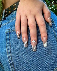 Cute Gel Nails, Chic Nails, Cute Acrylic Nails, Stylish Nails, Trendy Nails, Daily Nail, Nail Inspo, My Favorite Things, Nail Designs