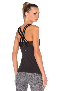 b620b15cddddb Beyond Yoga Polka Dot Mesh Cami in Black Workout Tops
