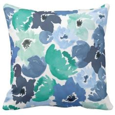 Charm Studio Pillow Cover - Navy Poppy By ($150) ❤ liked on Polyvore featuring home, home decor, throw pillows, navy accent pillows, navy blue home decor, dark blue throw pillows, floral home decor and poppy throw pillows