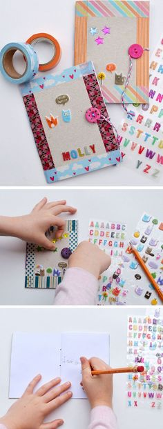 DIY Cereal Box Notebooks | Click Pic for 18 DIY Back to School Crafts for Teens to Make | Easy Back to School Crafts for Kids to Make