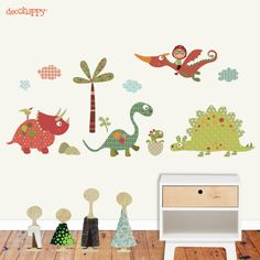 Vinilo infantil Dinosaurios buenos #vinilosinfantiles #vinilosdecorativos #dinosaurios