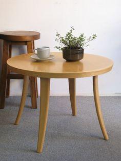 【アンティーク 古道具 JIKOH】天童木工 ラウンド ローテーブル 丸テーブル【楽天市場】無駄のないデザインはさすがです。