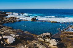 Sydney - Coogee to Maroubra Coastal Walk.  Today I started walking south from Coogee beach for a few km. Along the way, I discovered Mahon Pool, a stunning rock pool among some really spectacular cliffs. I can't believe we are in winter and these are supposed to be the coldest days of the year! Sydney Photography, Coogee Beach, Rock Pools, Days Of The Year, Cold Day, Along The Way, Coastal, Backpack, Nerd