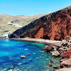 Check out @continentalconquistadors on Instagram! For more travel pics! Red beach, Santorini, Greece