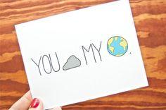 Funny Love Card - You Rock My World. Boyfriend. Girlfriend. Friend. Anniversary. via Etsy