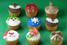 cupcakes navideños faciles - Buscar con Google
