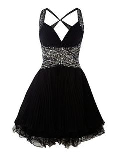 Adorable black cocktail dress