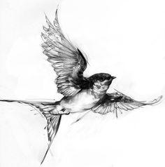 Swallow Tattoos – Exploring the Symbolic Meaning of Swallow Tattoo Designs Bird Tattoos Arm, Arm Tats, Body Art Tattoos, Small Tattoos, Sleeve Tattoos, Cool Tattoos, Tattoo Bird, Simple Bird Tattoo, Branch Tattoo
