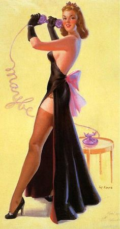 Maybe | Art Frahm Pin-Up artist | Ladies in distress