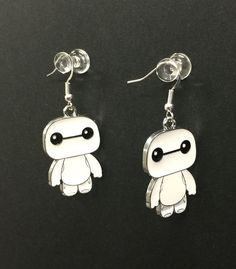 Big Hero 6 Baymax Disney Earring With Silver Hooks