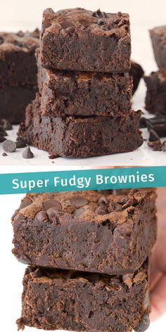 These SUPER FUDGY BROWNIES are a family favorite loaded and with 3 kinds of chocolate. Not your average brownies, these are dense and super chocolatey! desserts with cocoa powder Super Fudgy Brownies Fudgy Brownie Recipe, Chewy Brownies, Best Brownies, Homemade Brownies, Nutella Brownies, Protein Brownies, Healthy Brownies, How To Bake Brownies, Recipe For Brownies