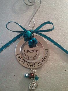 Hand Stamped Ornaments Baby's First Christmas by preciouscharms, $21.00 FOR New Nephew??????????