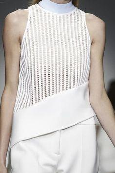White Asymmetric Top - sporty chic fashion details // David Koma SS15