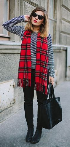 street style plaid stripes