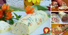 6 tipov na najlepšie slané rolády Fresh Rolls, Food Art, Party Time, Dairy, Appetizers, Ale, Cheese, Entertaining, Snacks