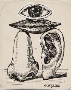 Magritte, La race blanche.