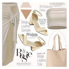 """Nude on the Party"" by vanjazivadinovic ❤ liked on Polyvore featuring Whiteley, Old Navy and Anja"