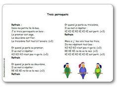 """Paroles et musique des """"trois perroquets"""" Petite Section, Grande Section, Pirate Theme, Chant, Ms Gs, Tour, Ps, Centre, Images"""
