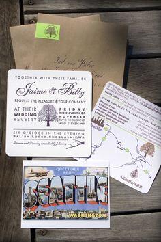 Letterpress Treehouse Wedding