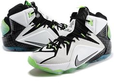 hot sale online 19d5a e490a Lebron 12 All Star White Blaxk Green White0 Popular Sneakers, Popular  Shoes, Nike Lebron