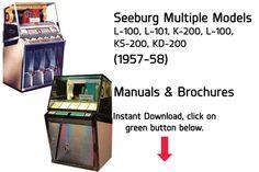 Seeburg Multiple Models L100, 101, K200, L100, KS200, KD200 (1957-58) Manual Jukebox Manuals available $20 Download at jukeboxmanuals.com