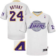 c63b0481f Autographed New Los Angeles Lakers  24 Kobe Bryant White Fashion Stitched NBA  Jersey Kobe Basketball