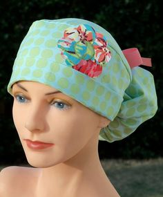Womens Ponytail Surgical Scrub Hat So Girly by thehatcottage, $28.00