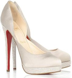 tall, delicious, Louboutins for under the wedding gown.....and then, maybe later that night, with gorgeous lingerie!