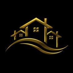 Real Estate Advertising, Real Estate Ads, Real Estate Logo Design, Wedding Logo Design, Business Logo Design, Door Design Photos, Handyman Logo, Inmobiliaria Ideas, Construction Company Logo