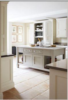 small, simple, warm kitchen