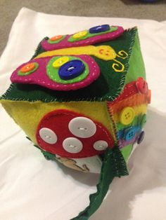 Felt Children's Activity Cube 4.5 inch by MjsFeltCreations on Etsy - So Cute!