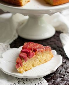 Rhubarb Upside Down Cake-4