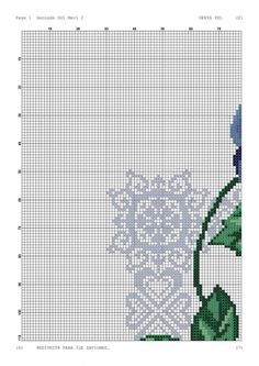 Prayer Rug, Cross Stitch Flowers, Cross Stitching, Floral, Blue Roses, Crocheted Animals, Cross Stitch Embroidery, Ideas, Railings